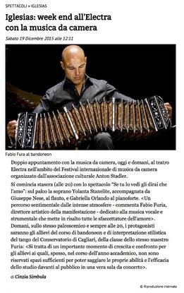 XVII Festival Internazionale di Musica da Camera (Unione Sarda)