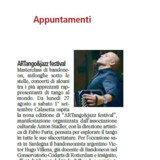 ArTango & Jazz Festival (Unione Sarda)