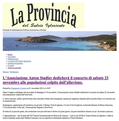 XV Festival Intenazionale di Musica da Camera (La Provincia del Sulcis Iglesiente)