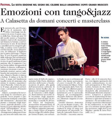 Masterclass ARTango (Unione Sarda)