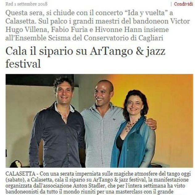 ArTango & Jazz Festival (Alguer)