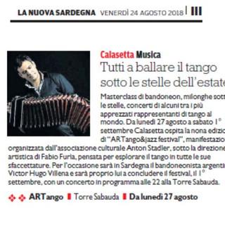 ArTango & Jazz Festival (La Nuova Sardegna)