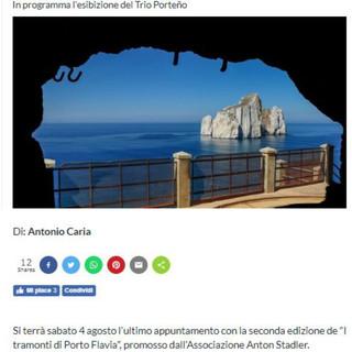 I Tramonti di Porto Flavia (Sardegna Live)