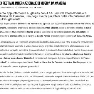 XX Festival Internazionale di Musica da Camera (Unica Radio)
