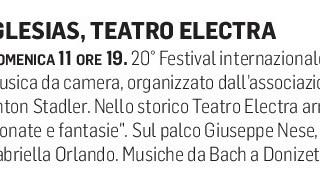 XX Festival Internazionale di Musica da Camera (Unione Sarda)