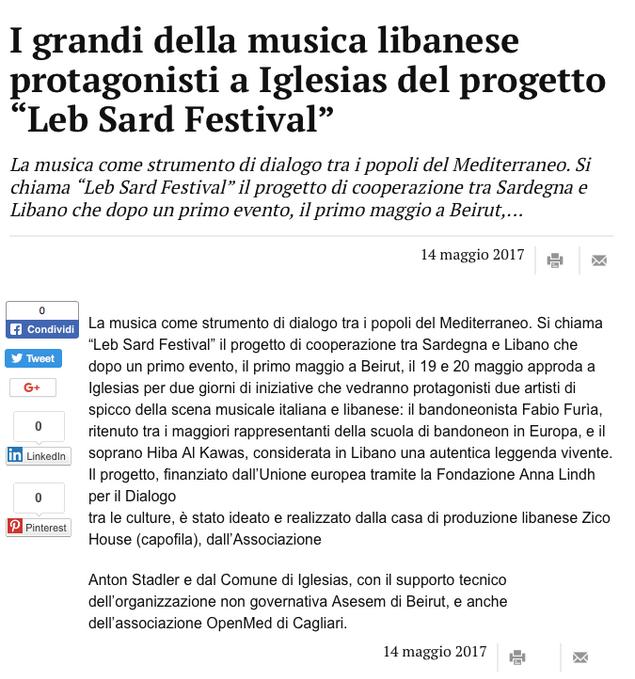 Leb Sard Festival (La Nuova Sardegna)