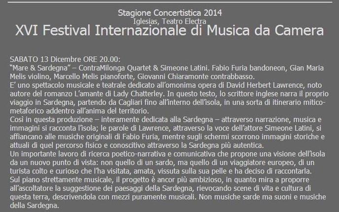 XVI Festival Internazionale di Musica da Camera