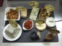 Plateau de fromages affinés  le côte de brouilly