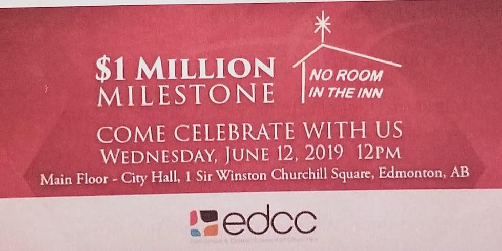 EDCC No Room in the Inn $1M Milestone Celebration