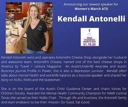 Kendall Antonelli womens march atx texas