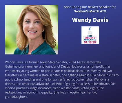 Wendy Davis womens march atx texas rally