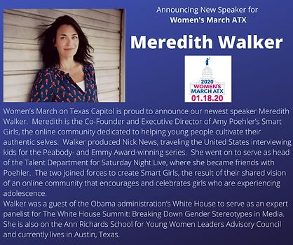 Meredith walker womens march atx austin