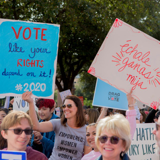 Vote Signs - Women's March ATX Rally at the Capitol