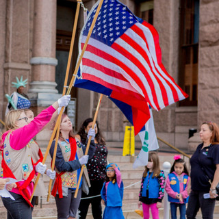 Girls Scouts - Women's March ATX Rally at the Capitol