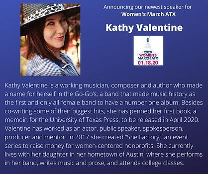Kathy Valentine womens march atx rally.p