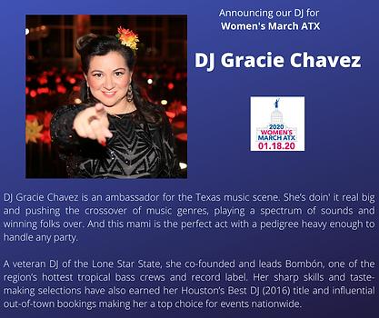 DJ Gracie Chavez_womens march axt rally