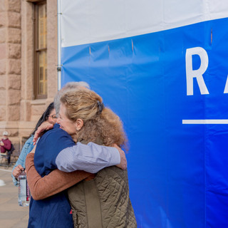 Hug - Women's March ATX Rally at the Capitol