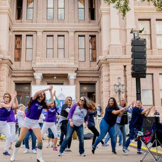 Resist Dance group Women's March ATX Rally at the Capitol