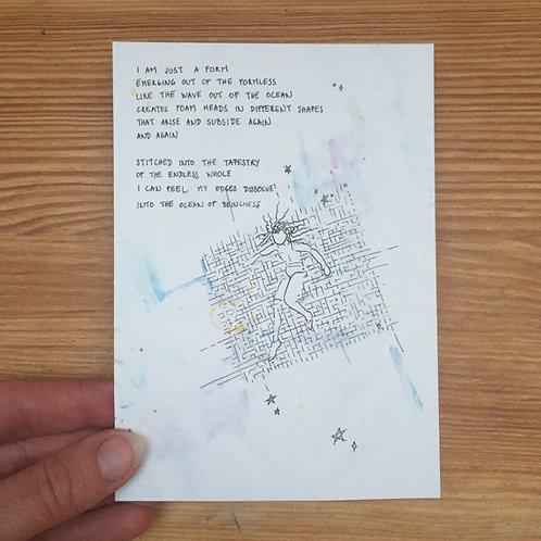 Single postcard formlesness & form + envelope