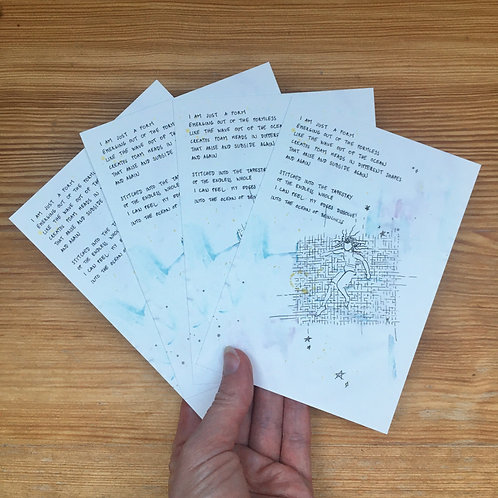 Set of 4 postcards formlesness & form + envelopes