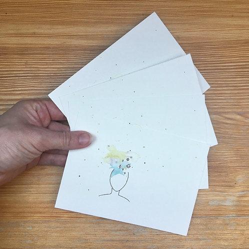 Set of 4 postcards kula + envelopes