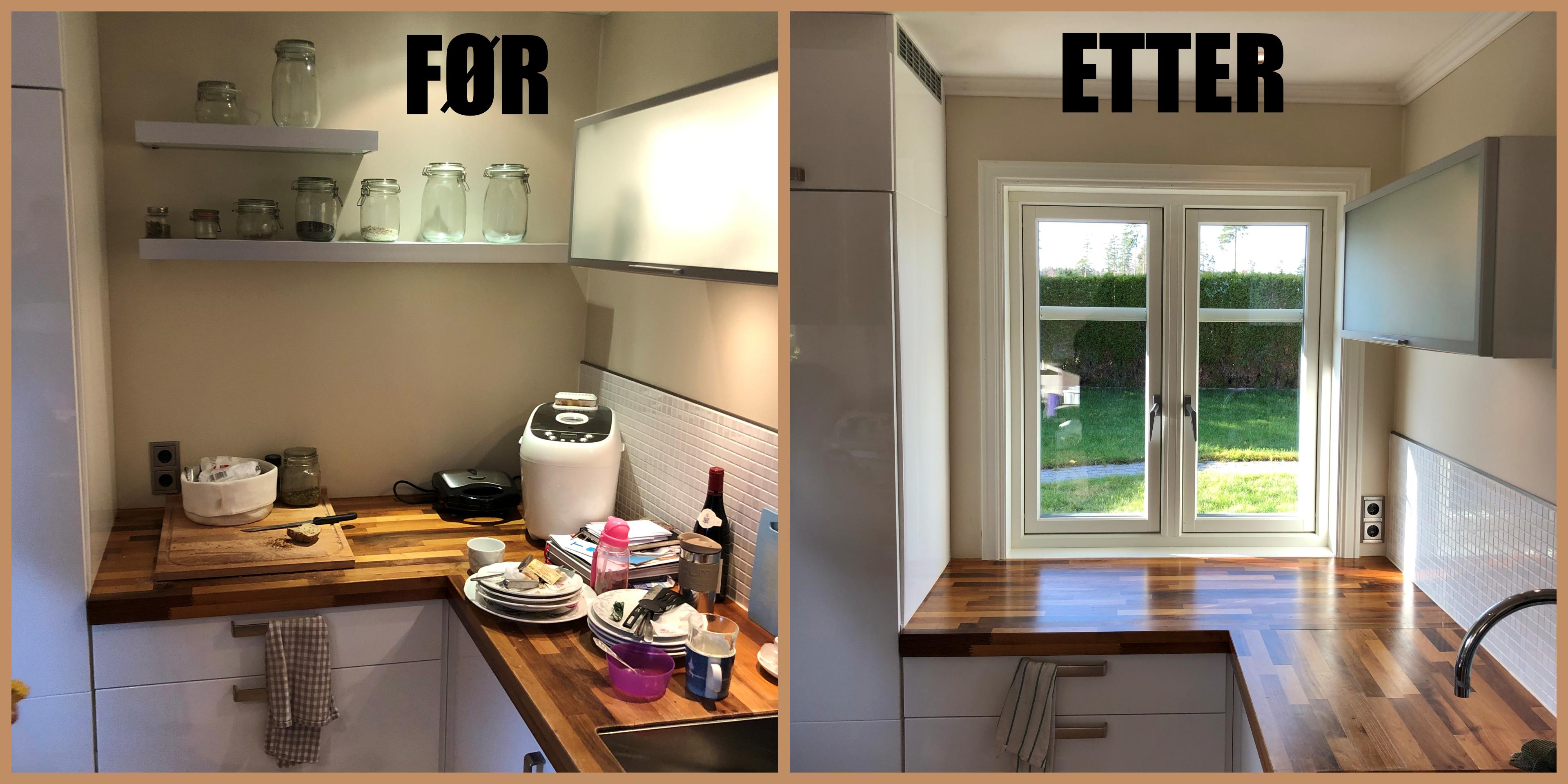 Innsetting av nytt vindu på kjøkken