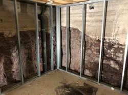 Stålstendere for oppbygging av vegg