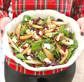 Pear, Pomegranate & Goat Cheese Holiday Salad