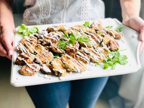 Fried Kolokithakia | Traditional Fried Zucchini with Garlic Yogurt Sauce