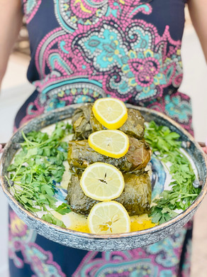Salmon Ambelou | Salmon wrapped in Grape Leaves