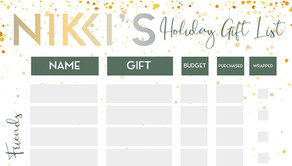 Nikki's Gift List Printable