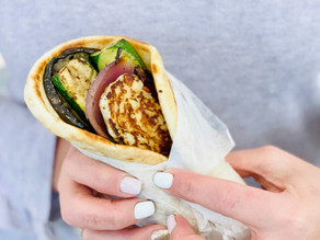 Grilled Vegetable Pita Sandwich with Halloumi