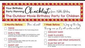 Outdoor Movie Party Planning Checklist