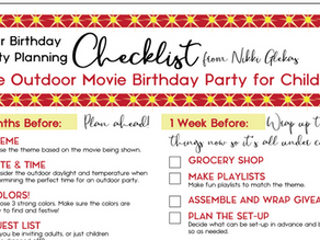 Outdoor Movie Party Planning Checklist