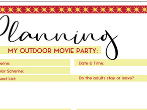 Planning an Outdoor Movie Party Worksheet