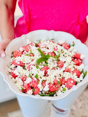 The Best Summer Salad | Watermelon Feta Arugula Salad