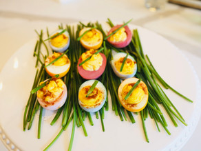 Naturally Dyed Easter Deviled Eggs
