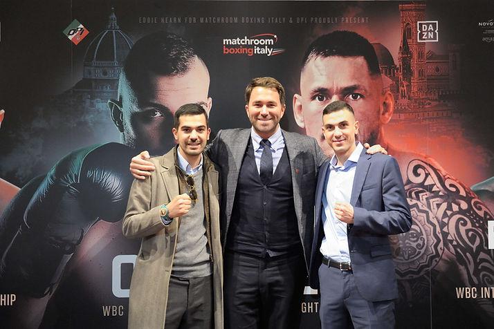 Alessandro,Eddie Hearn, Christian Cherch