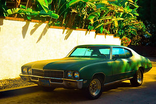 CJV007 Green Car, Chateau Marmont White