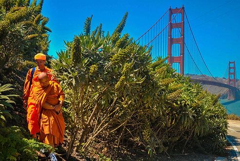 Monks on Golden Gate Bridge