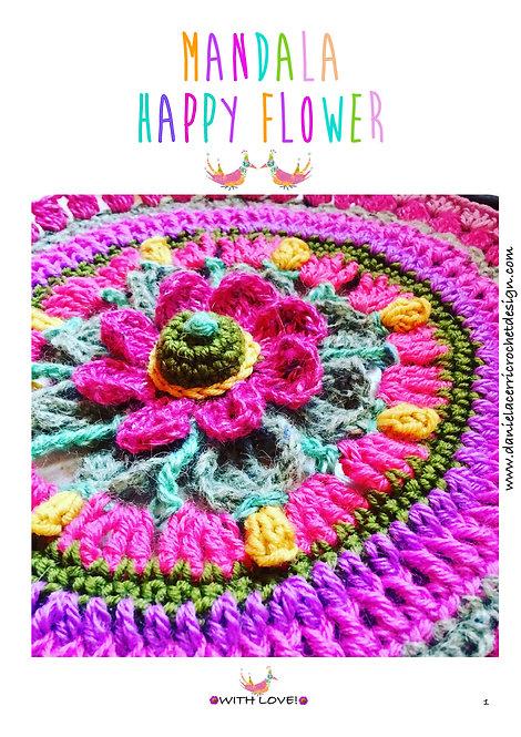 Mandala Happy Flower
