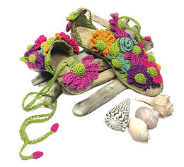 espadrillas decorate a crochet