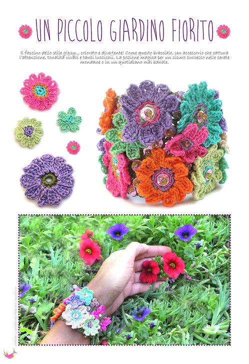bracciale un piccolo giardino fiorito tratto da Art-book n. 2