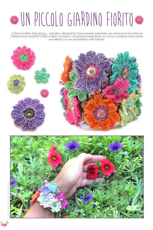 Bracciale: Un piccolo giardino fiorito