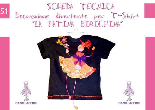 la fatina birichina decorazione per T-shirt