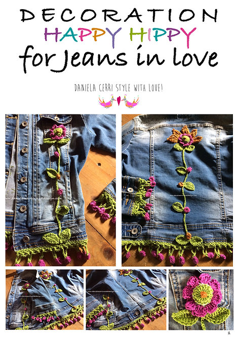 decorazione happy hippy for your jeans