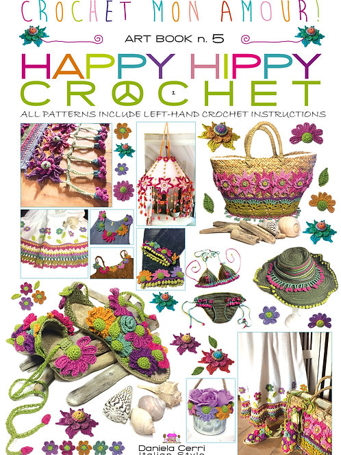 art book 5 happy hippy crochet english print
