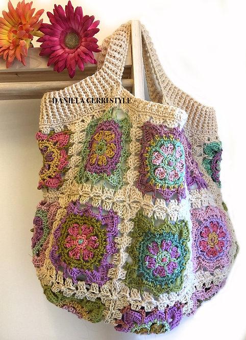 "Bag ""Marlene"" Boho Chic in total Granny Patch"
