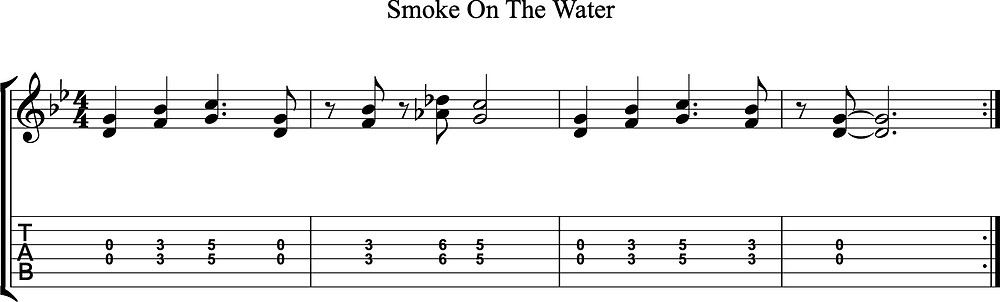 """Intro to """"Smoke On the Water"""" by Deep Purple"""