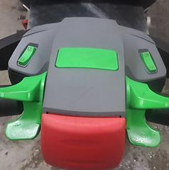 Geschwindigkeitsanzeig oder Tacho für den elektrischen Fahrantrieb an der Schubkarre